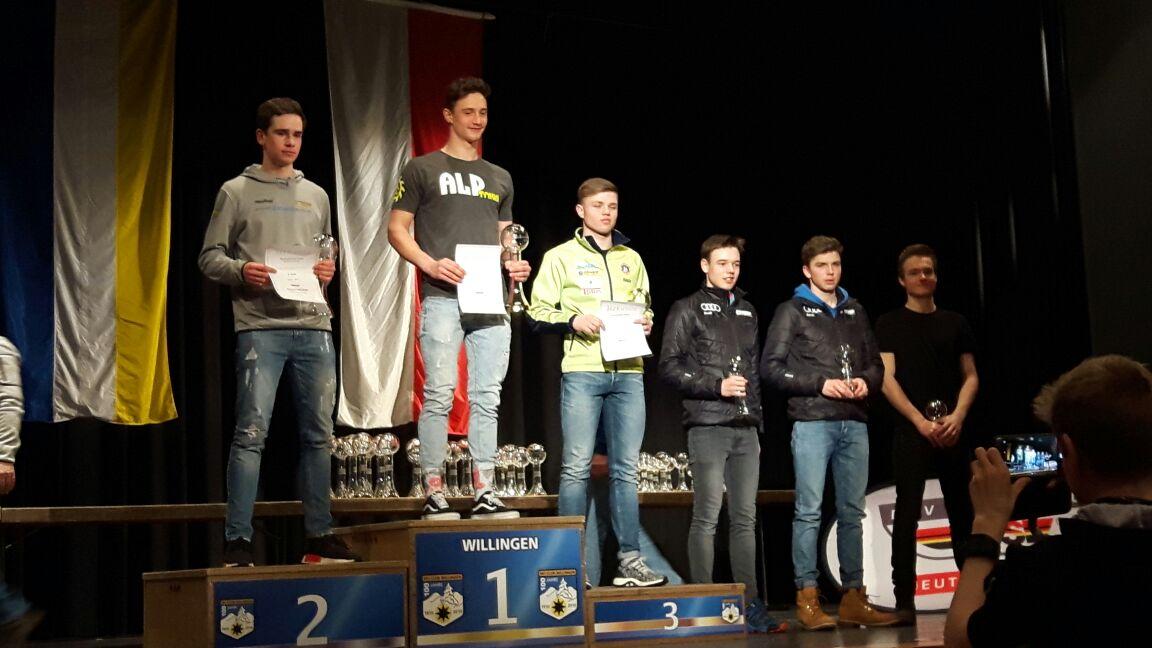 Siegerehrung Deutschlandpokalwertung: Hendrik Rudolph auf Platz 1